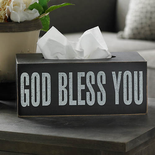 God Bless You Tissue Box-Rectangular