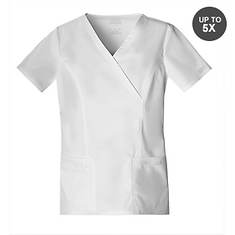 Cherokee Medical Uniforms Workwear Stretch Mock Wrap Top