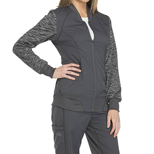 Dickies Medical Uniforms Dynamix Melange Zip Warm-Up Jacket