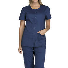 Cherokee Medical Uniforms Workwear Stretch Round Neck Top