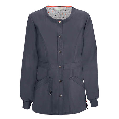 Code Happy Bliss Snap Front Warm-Up Jacket