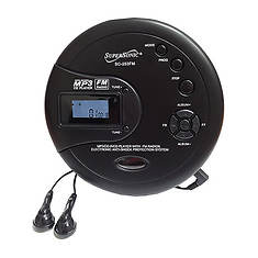 SuperSonic Personal MP3/CD Player with FM Radio