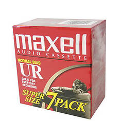 Maxell 7-Pack UR-90 Audio Cassettes