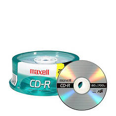 Maxell 25-Pack CDR-700MB Data CD's