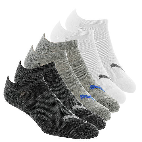 PUMA Men's P101568 No Show 6 Pack Socks