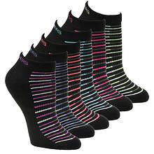 Skechers Women's S108233 Low Cut 6 Pack Socks