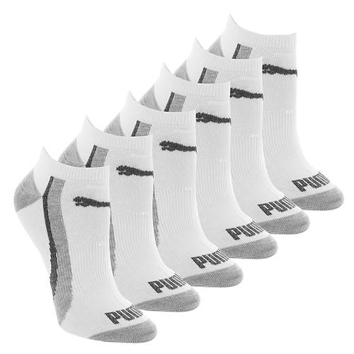 PUMA Women's P107106 Low Cut 6 Pack Socks