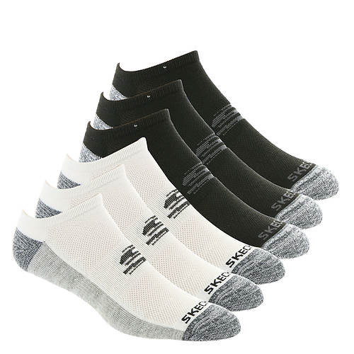 Skechers Men's S109965 No Show 6 Pack Socks