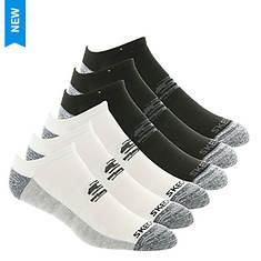 Skechers Men's S109965 No Show 6 Pack Socks