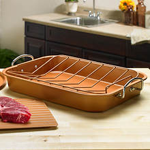 Copper Defrosting Turkey Roaster