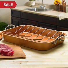 Copper Defrosting Turkey Roaster