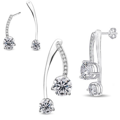 2-Pc. CZ Convertible Earrings