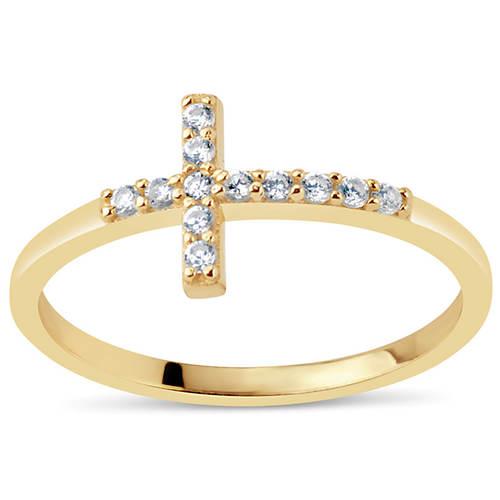 CZ Cross Ring