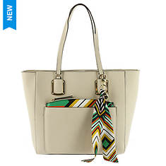 Nine West Addi Tote Bag With Scarf Accent