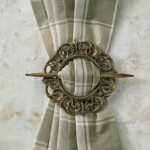 Decorative Curtain Holdbacks-Set of 2-Antique