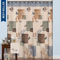Faith Shower Curtain With Hooks