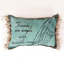 Word Pillow- Friends Are Angels With Invisible Wings