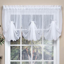Emelia Sheer Voile Fan Swag Valance