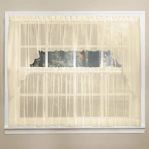Emelia Sheer Voile Swag Valance Pair