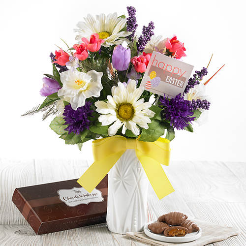 Personalized Easter Bouquet with Chocolates