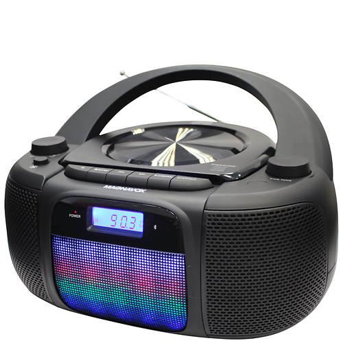 Magnavox CD/AM/FM/Bluetooth Light-Up Boombox