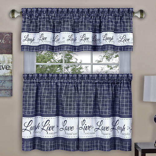 Live, Laugh, Love Tier And Valance Set