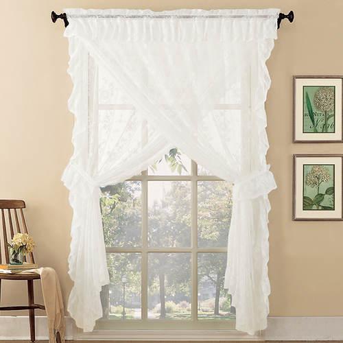 Alison Floral Lace Priscilla Curtain Set