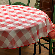 Bistro Check Tablecloth 70 Round