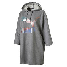 PUMA Women's Glam Oversized Hooded Dress