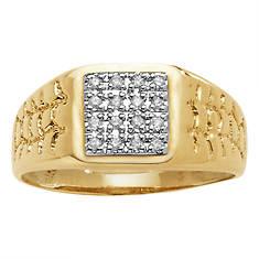 Men's 10K Gold Diamond Pavé Ring