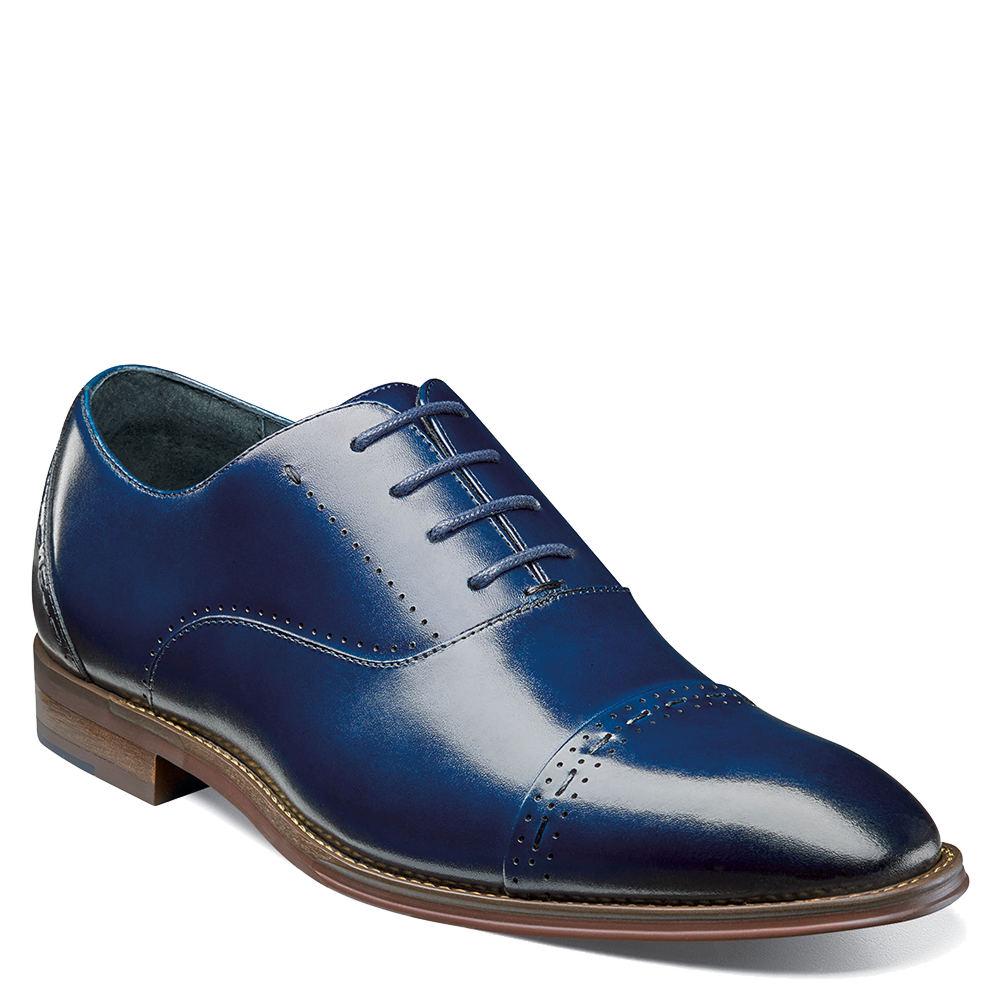 1950s Mens Shoes: Saddle Shoes, Boots, Greaser, Rockabilly Stacy Adams Barris Mens Blue Oxford 11 M $94.95 AT vintagedancer.com