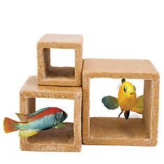 3-Pack Fish Cube Hideaway