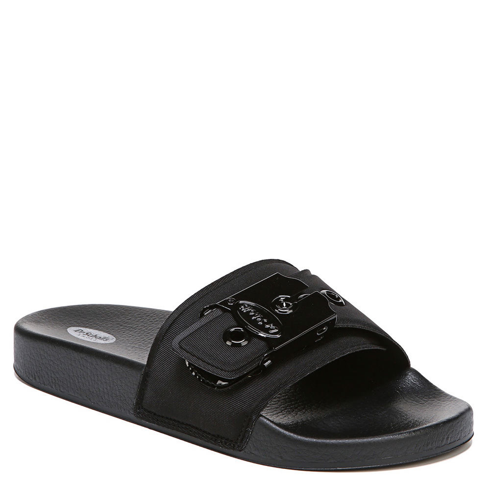 3fe01ae29d35 Dr. Scholl s Original Collection Women s OG Poolslide Sandal Black ...