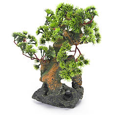 Bonsai Tree on Rocks Fish Ornament