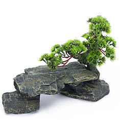 Bonsai Tree Rock Fish Ornament
