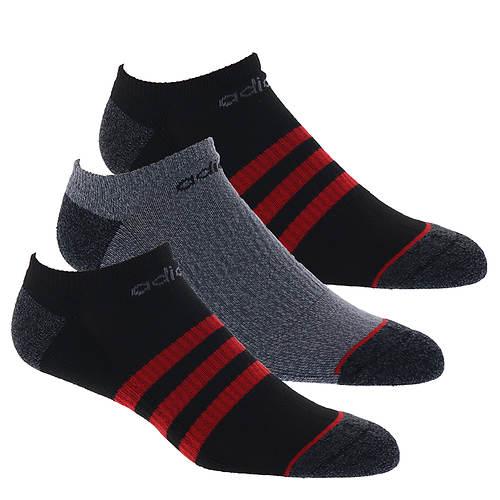 adidas Men's 3-Stripe 3-Pack No Show Socks