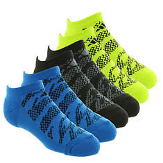 adidas Boys' Tiger Style 6-Pack No Show Socks