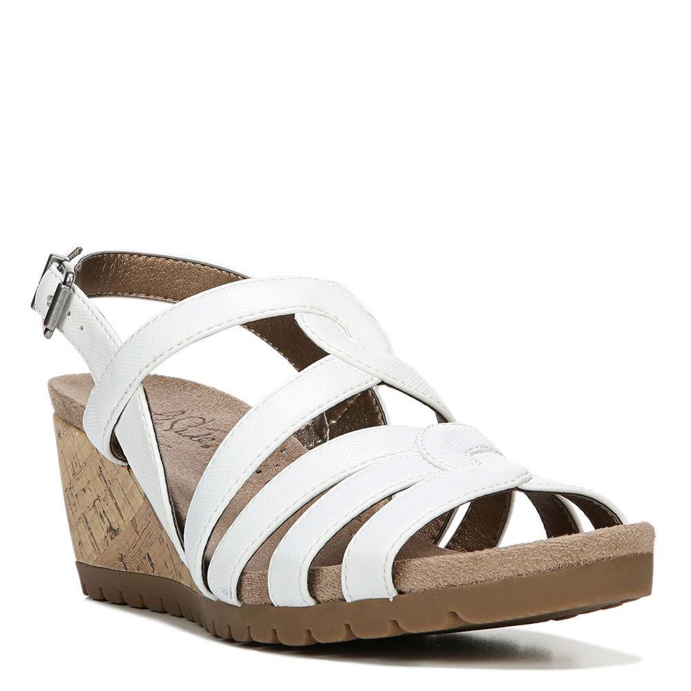 1940s Style Shoes, 40s Shoes Life Stride Novak Womens White Sandal 6.5 M $59.95 AT vintagedancer.com