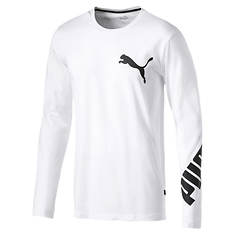 Puma Men's Big Logo LS Tee
