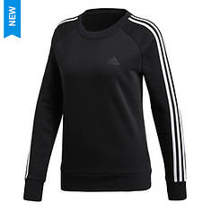adidas Women's Cotton Fleece 3S Crew