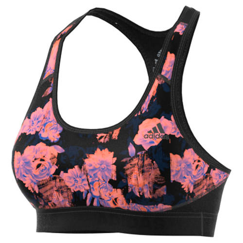 adidas Women's Alphaskin Floral Sports Bra