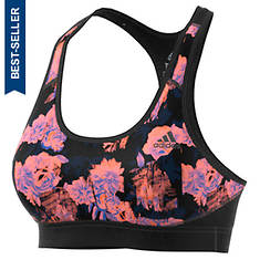 adidas Women's Alphaskin Floral Sports Bra