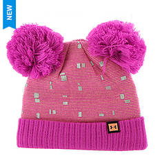 Under Armour Girls' Double Pom Beanie