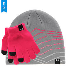 Under Armour Girls' Beanie/Glove Combo