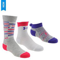 Under Armour Girls' Triple Play 3-Pack Socks