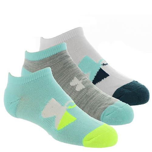 Under Armour Girls' Next Statement No Show 3-Pack Socks