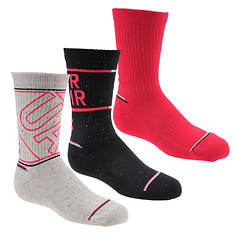 Under Armour Girls' Phenom Crew 3-Pack Socks