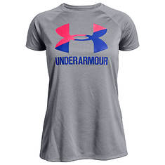 Under Armour Girls' Big Logo Tee Solid SS