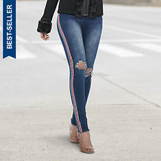 Side Stripe High-Waist Jean