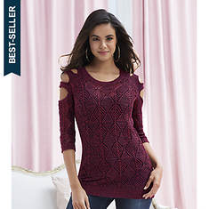 Cutout Sleeve Sweater Tunic